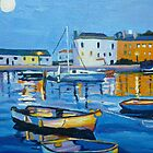 Tenby Harbour at Night by Emma Cownie