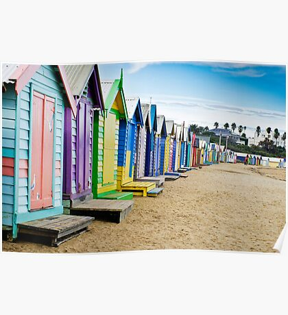 Location, Location, Location - Brighton Beach Boxes - Australia Poster