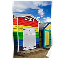 All the colours of the Rainbow - Brighton Beach Boxes - Australia Poster