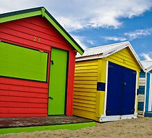 Colour wheel - Brighton Beach Boxes - Australia by Norman Repacholi