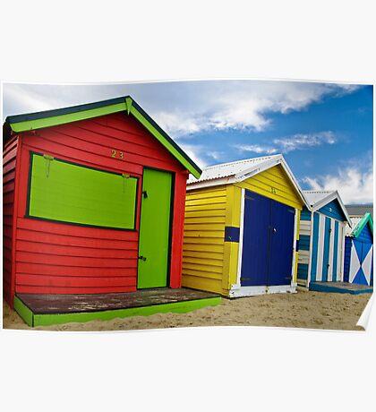 Colour wheel - Brighton Beach Boxes - Australia Poster