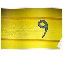 Yellow Nine - Brighton Beach Boxes - Australia Poster