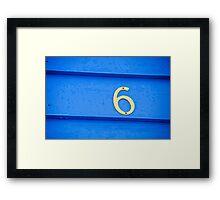 Blue six - Brighton Beach Boxes - Australia Framed Print