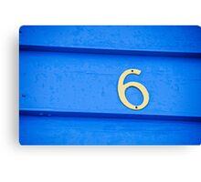 Blue six - Brighton Beach Boxes - Australia Canvas Print