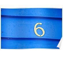 Blue six - Brighton Beach Boxes - Australia Poster