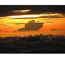 Sunrise over Mt Kinabalu Photographic Print