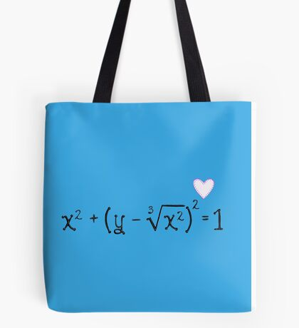 Math heart (blue) Tote Bag