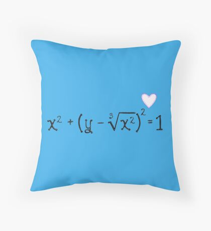 Math heart (blue) Throw Pillow