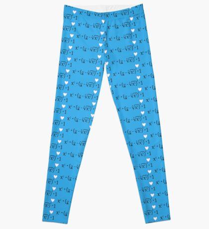 Math heart (blue) Leggings