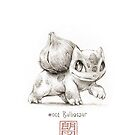 Bulbasaur - original graphite drawing by rockyhammer