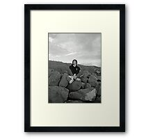 Boy on Irish shores Framed Print