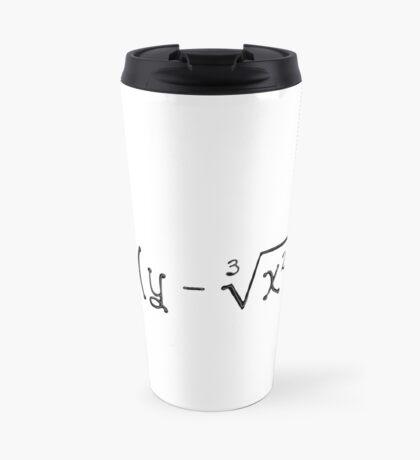 Math heart (white) Travel Mug