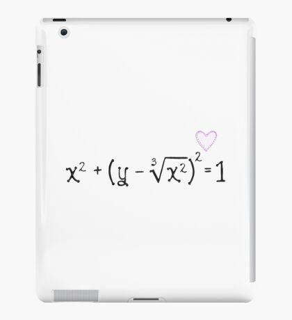 Math heart (white) iPad Case/Skin
