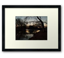 Crossing the Big Sioux River Framed Print