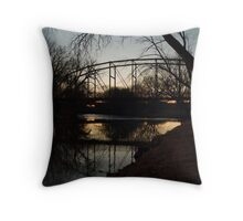 Crossing the Big Sioux River Throw Pillow