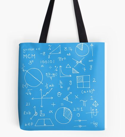 Math formulae (blue) Tote Bag
