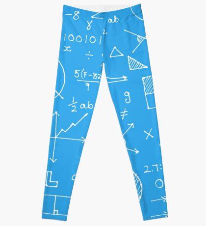 Math formulae (blue) Leggings