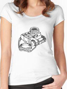 Holga 120 Plastic Toy Medium Format Camera Women's Fitted Scoop T-Shirt