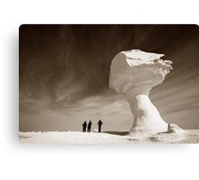 Silhouettes and Rock Formations Canvas Print