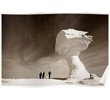 Silhouettes and Rock Formations Poster