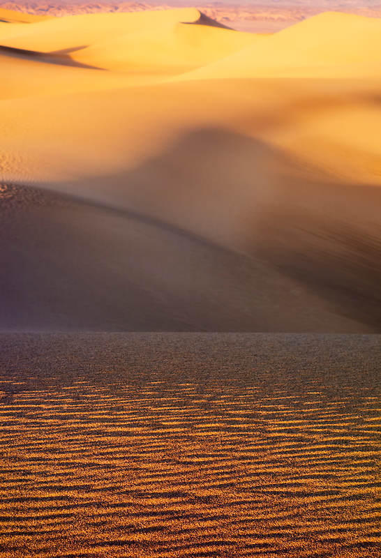 Sunset at Mesquite Flat Sand Dunes by Robin Whalley