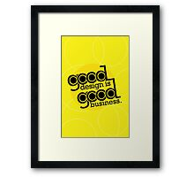 good design is good business Framed Print