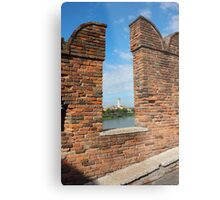 View Toward Basilica di San Zeno in Verona Metal Print