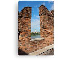 View Toward Basilica di San Zeno in Verona Canvas Print