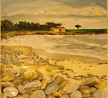 pebble beach panel 1 by Caroline  Hajjar Duggan