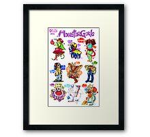 Monster Girls Collection 2012 Framed Print