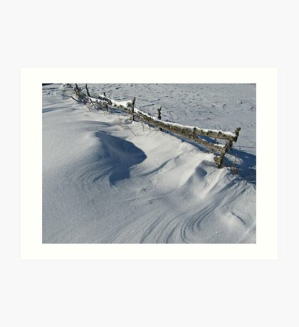 Snowy Winter Scene Detail Art Print