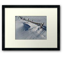 Snowy Winter Scene Detail Framed Print