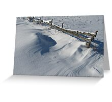 Snowy Winter Scene Detail Greeting Card
