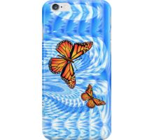 Butterflies in a Blue Sky iPhone Case/Skin