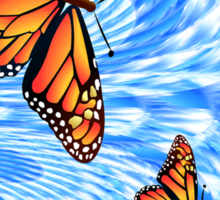 Butterflies in a Blue Sky Sticker