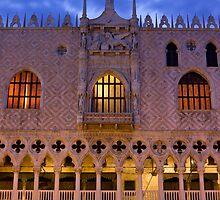 Doge's Palace in Venice sunrise detail by kirilart