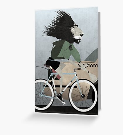 Alleycat Race Greeting Card