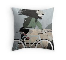 Alleycat Race Throw Pillow
