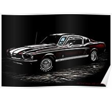 1967 Ford Mustang Shelby 350 Fastback Poster