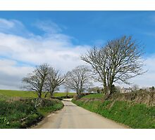 English Country Road in Cornwall Photographic Print