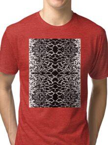 Black and White Tri-blend T-Shirt