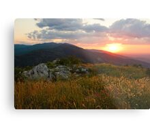 Colorful Sunset over the Mountain slope Metal Print