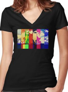 Persona 4 Investigation Team Women's Fitted V-Neck T-Shirt