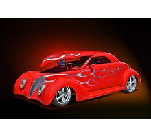 1939 Chevy w/Hood UP Photographic Print
