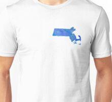 Massachusetts State Watercolor Unisex T-Shirt