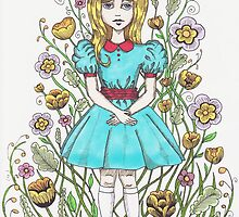 Flower Girl In Colour by AnnaBaria