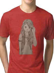 Cute anime girl Tri-blend T-Shirt