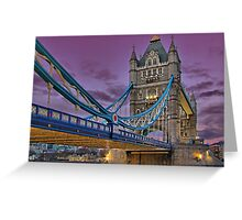Tower Bridge From Below - HDR Greeting Card