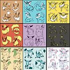 Eeveelutions by MagenWorks