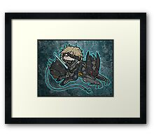 Raiden and Wolf Framed Print